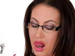 Big Tits, Ebony, Glasses, Masturbation