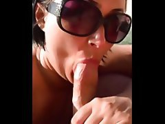 Beach, Blowjob, Brunette, Mature