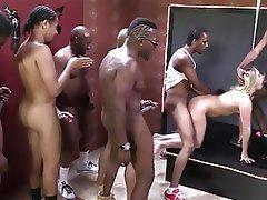 Blonde, Gangbang, Interracial, MILF