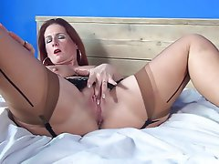 Hairy, Masturbation, MILF, Stockings