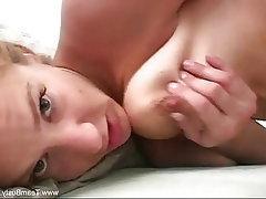 Blonde, Dildo, Big Tits