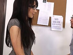 Blowjob, Brunette, Glasses, MILF