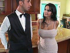 MILF, Wife, Brunette, Kitchen