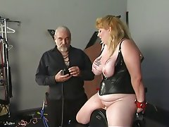 Fat bitch tortures her big boobs amp nipples then licks them nipple play