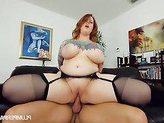 BBW, Big Boobs, Foot Fetish, Stockings