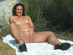 Amateur, Brunette, Mature, Outdoor